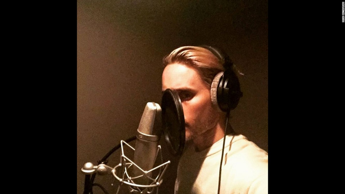 "Jared Leto <a href=""https://instagram.com/p/9nUJLRTBUT/?taken-by=jaredleto"" target=""_blank"">posted this selfie</a> from the recording studio on Tuesday, November 3. The actor captioned the photo ""#MarsIsComing,"" a reference to his band Thirty Seconds to Mars."