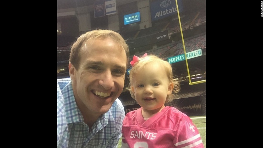 """Only thing better than getting the win today is spending time with my baby girl afterward on the field!"" <a href=""https://instagram.com/p/9j_gcHAw2S/?taken-by=drewbrees"" target=""_blank"">said New Orleans quarterback Drew Brees</a> on Sunday, November 1."