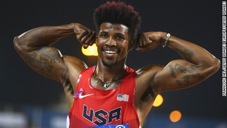 DOHA, QATAR - OCTOBER 29:  Richard Browne of the United States celebrates setting a new world record and winning the men's 100m T44 final during the Evening Session on Day Eight of the IPC Athletics World Championships at Suhaim Bin Hamad Stadium on October 29, 2015 in Doha, Qatar.  (Photo by Francois Nel/Getty Images)