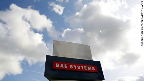 (FILES) In a file picture taken on October 1, 2009 a BAE Systems plant is pictured in Warton near Preston, north-west England. British aerospace company BAE Systems on November 2, 2015 unveiled an investment in a new engine combining jet and rocket technologies -- part of a growing list of companies in the increasingly heated commercial space race. AFP PHOTO/ ANDREW YATESANDREW YATES/AFP/Getty Images