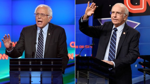 "Larry David may have been born to play Bernie Sanders. The ""Curb Your Enthusiasm"" star played the presidential candidate in a skit that was a parody of the CNN Democratic debate. David received favorable reviews of his depiction of the presidential candidate."