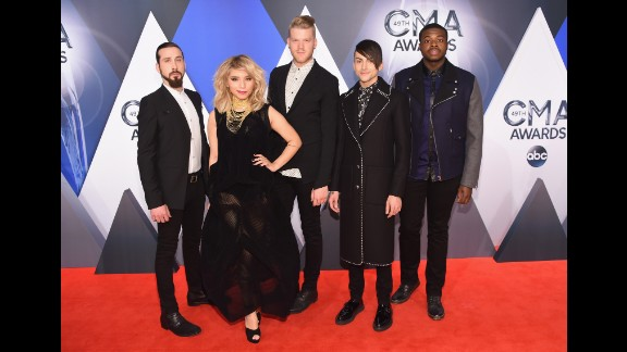Singers of Pentatonix attend the 49th annual CMA Awards at the Bridgestone Arena on Wednesday, November 4, in Nashville.