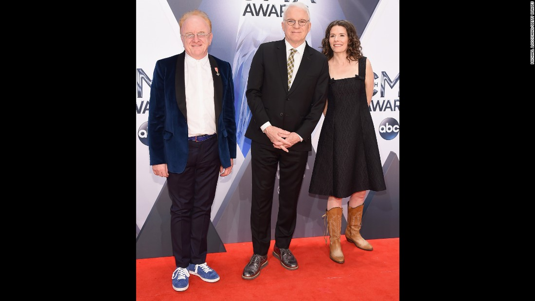 Peter Asher, Steve Martin and Edie Brickell
