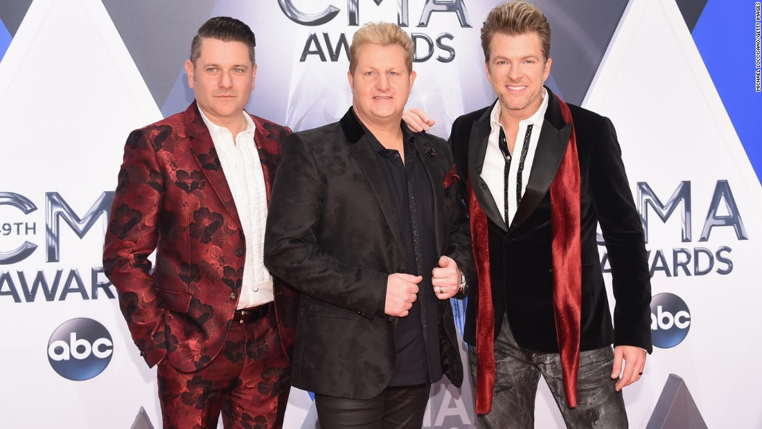 Jay DeMarcus, Gary LeVox and Joe Don Rooney of Rascal Flatts