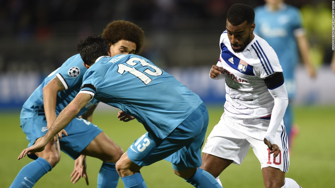 Lyon's hopes of making it through to the next stage look finished after it was beaten 2-0 at home by Zenit. The Russian side, which tops Group H, was indebted to Artem Dyzuba, who scored both goals.
