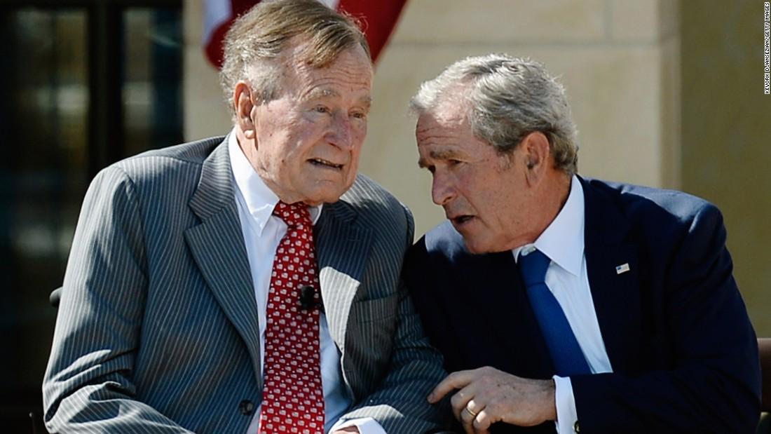 Bush 41 Calls Trump A Blowhard Wh Strikes Back Cnnpolitics