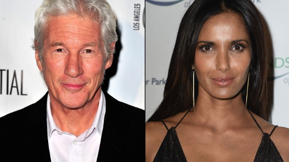 "Actor Richard Gere and ""Top Chef"" host Padma Lakshmi were an item in 2014 before splitting after six months."