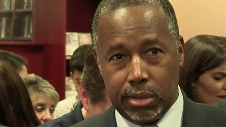 Ben Carson reacts to questions over past violence