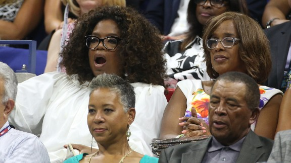In recent years Oprah also has been spotted at high-profile sporting events, such as the September 8 match between Serena and Venus Williams at the 2015 U.S. Open in New York.