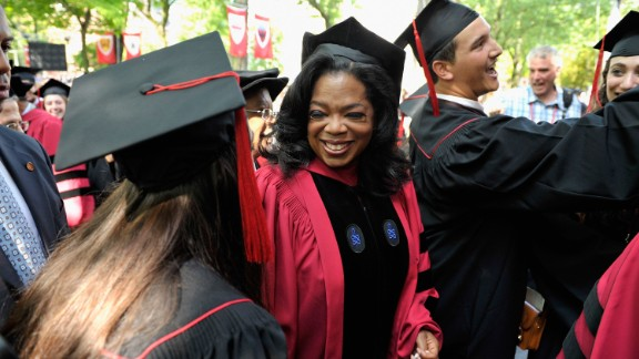 Winfrey receives an Honorary Doctor of Laws Degree at Harvard University's 362nd commencement exercises on May 30, 2013, in Cambridge, Massachusetts.