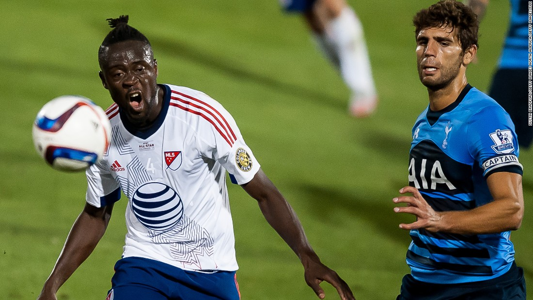 Kei Kamara (left) is on the shortlist for the 2015 MLS player of the year award after being joint top scorer in regular season.