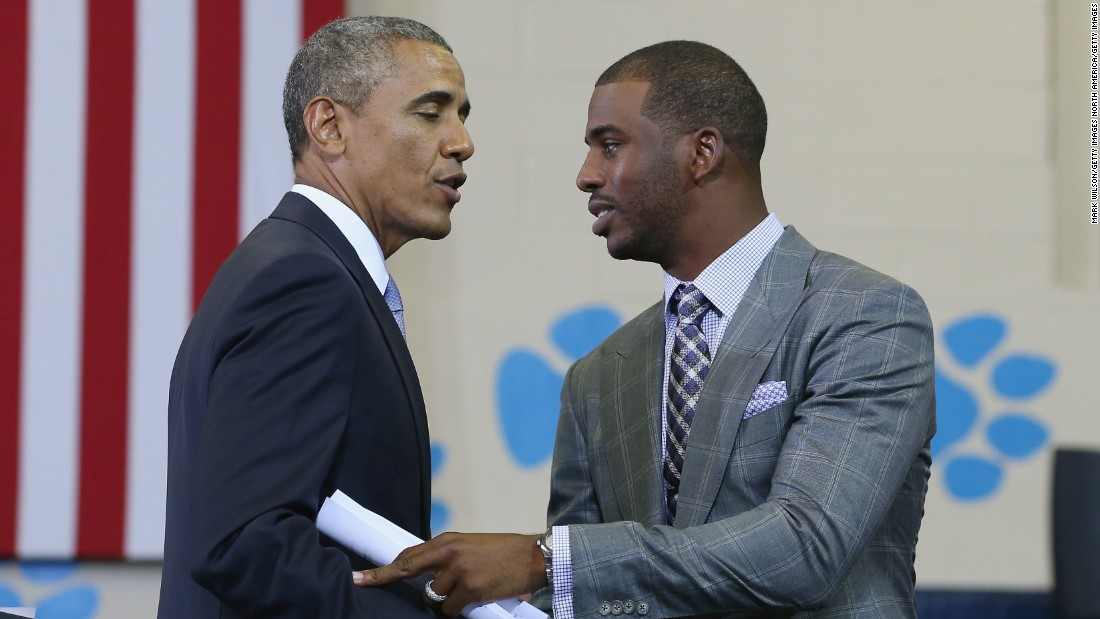 Chris Paul hires a stylist to make sure he's looking good enough to meet heads of state.