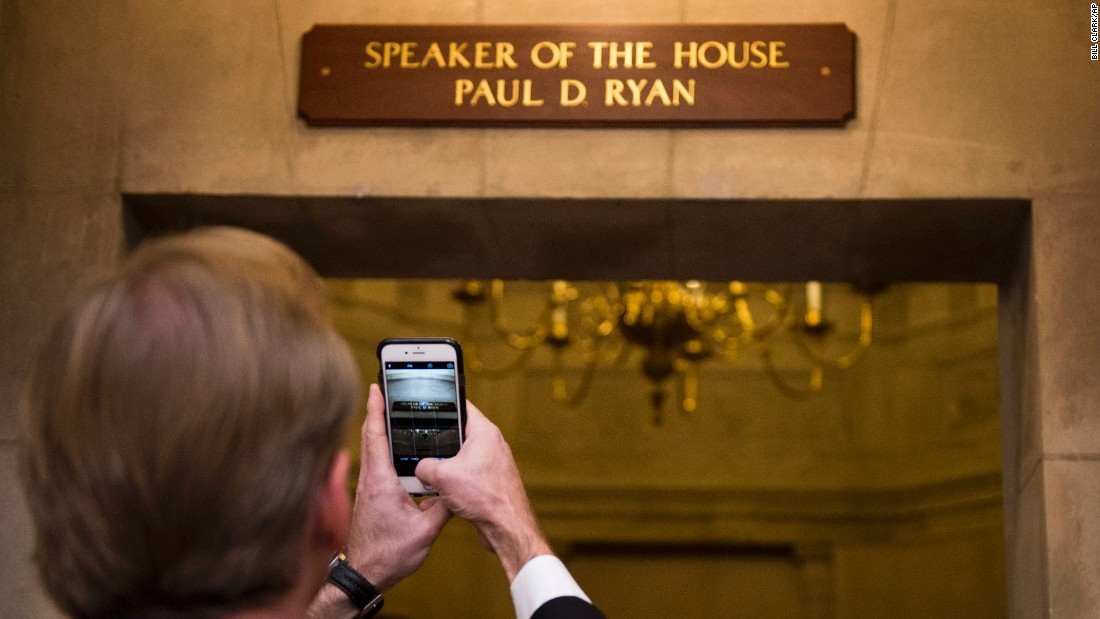 "A new sign at the U.S. Capitol reflects <a href=""http://www.cnn.com/2015/10/29/politics/paul-ryan-house-speaker-vote/"" target=""_blank"">the election of House Speaker Paul Ryan</a> on Friday, October 30. Ryan, a Republican from Wisconsin, replaces Ohio Rep. John Boehner, who is retiring."