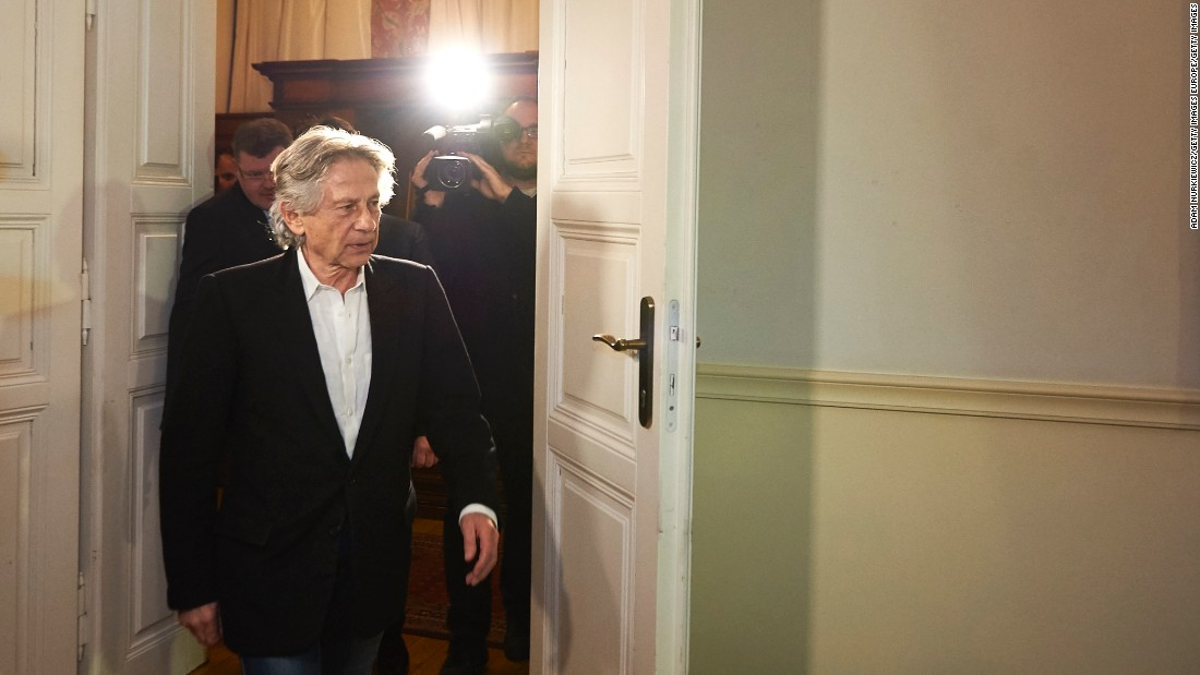 "Film director Roman Polanski arrives for a news conference at a hotel in Krakow, Poland, on Friday, October 30. A Polish court <a href=""http://www.cnn.com/2015/10/30/world/roman-polanski-poland-extradition-denied/"" target=""_blank"">rejected the extradition of Polanski</a> in a decades-old case. U.S. officials have been seeking Polanski for decades, insisting that he be held to account for illegally having sex with a 13-year-old girl in 1977."
