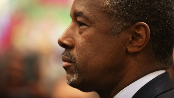 Republican presidential candidate Ben Carson speaks to the media during a stop to sign his book at a Barnes and Noble store on November 5, 2015 in Fort Lauderdale Florida.
