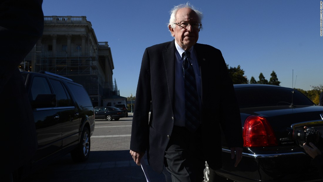 U.S. Sen. Bernie Sanders, who is seeking the Democratic Party's presidential nomination, attends a news conference where he helped launched new climate legislation on Wednesday, November 4. The Keep It in the Ground Act would ban new mining and drilling on public land.