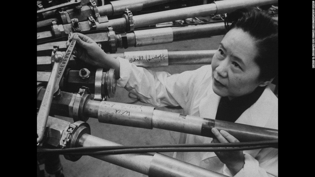 "A physicist, Wu was the first recipient of the Wolf Prize in Physics. She worked on the Manhattan Project by assisting in separating uranium isotopes U-235 and U-238 by gaseous diffusion. Wu also helped prove the hypothetical ""Law of Conservation of Parity"" invalid."