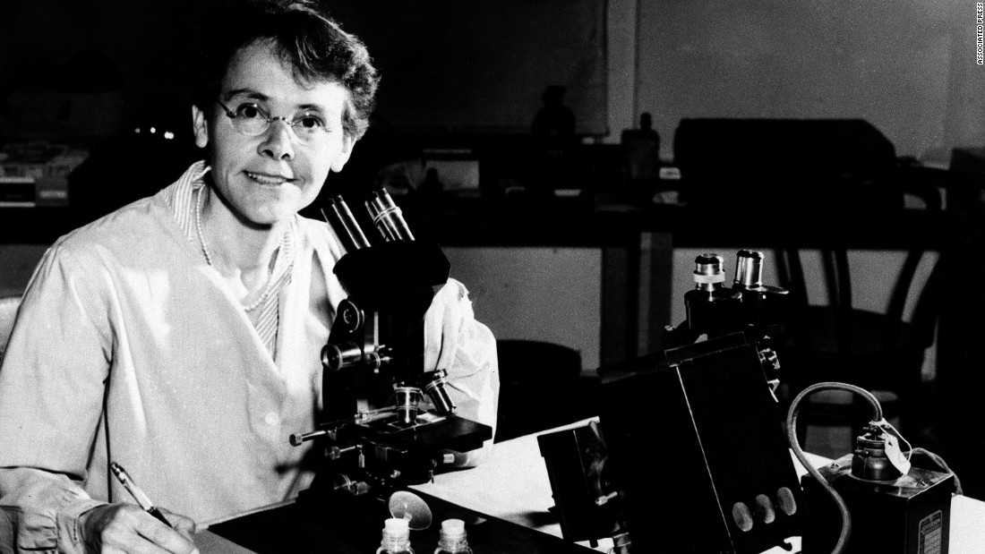 A leader in genetics research, McClintock used corn to develop understanding of transposition: the idea that genes turn physical characteristics on and off. Unrecognized for years, she received the 1983 Nobel Prize for Medicine at age 81.