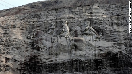 Stone Mountain Park will be closed Saturday, according to the group that runs the recreation area that includes this monument to Confederate leaders.