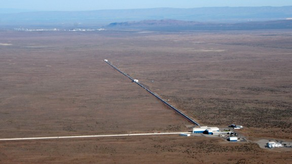The Laser Interferometer Gravitational-Wave Observatory is designed to measure ripples in space called gravitational waves.  Along with its sister facility in Louisiana, this detector in Hanford, Washington, can detect a pair of orbiting black holes up to 620 million light years away.