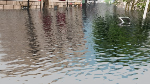 """Wall Street could go underwater, if temperatures rise as much as four degrees, according to <a href=""""http://www.climatecentral.org/"""" target=""""_blank"""" target=""""_blank"""">Climate Central</a>."""