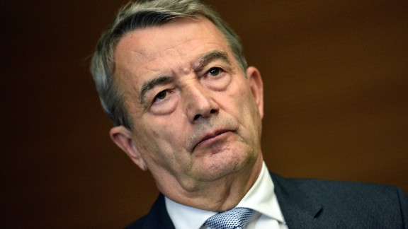 """Wolfgang Niersbach announces his resignation as German Football Federation president, taking """"political responsibility"""" for accusations of bribery involving the country"""