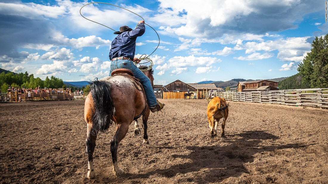 Visitors can also try their hand at barrel racing and roping.