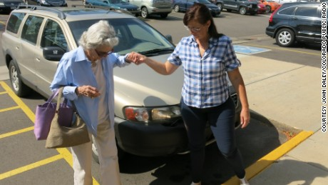 Harriet Kelly, left, said she hadn't had a fender bender since the 1960s, but she stopped driving at 90.