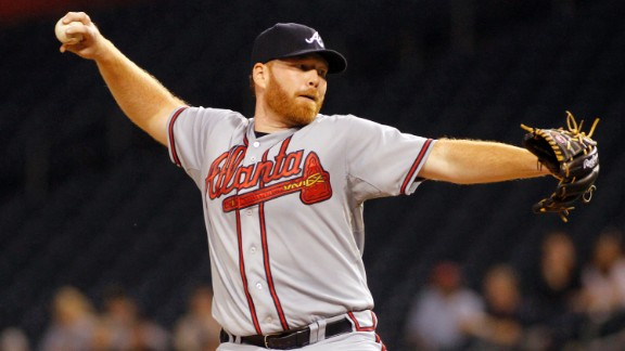 "At 6-foot-6, Tommy Hanson earned the nickname ""Big Red"" among his fellow Braves."