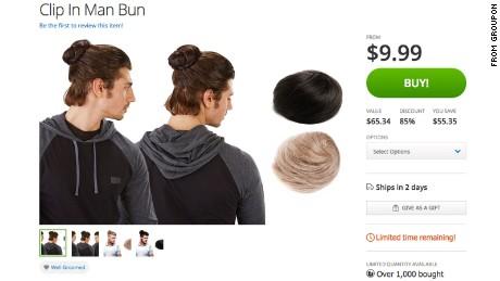 Clip On Man Buns Are Now Avaliable For The Adventurous Cnn
