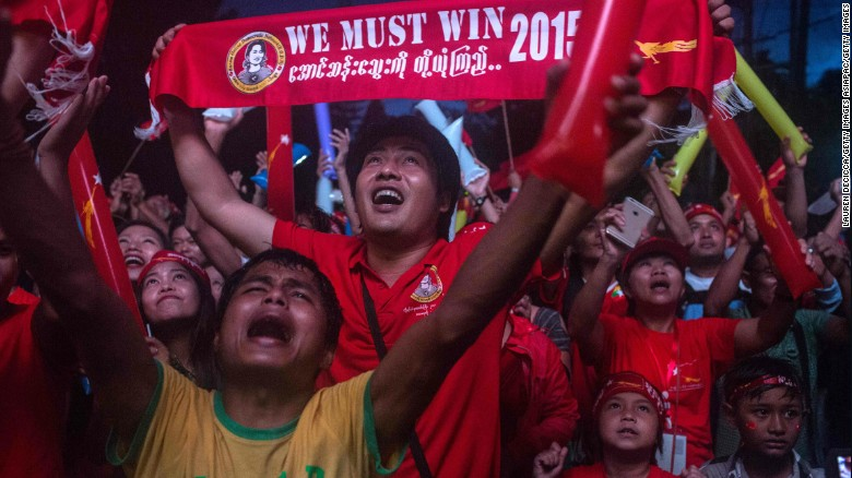 Myanmar's voters celebrate