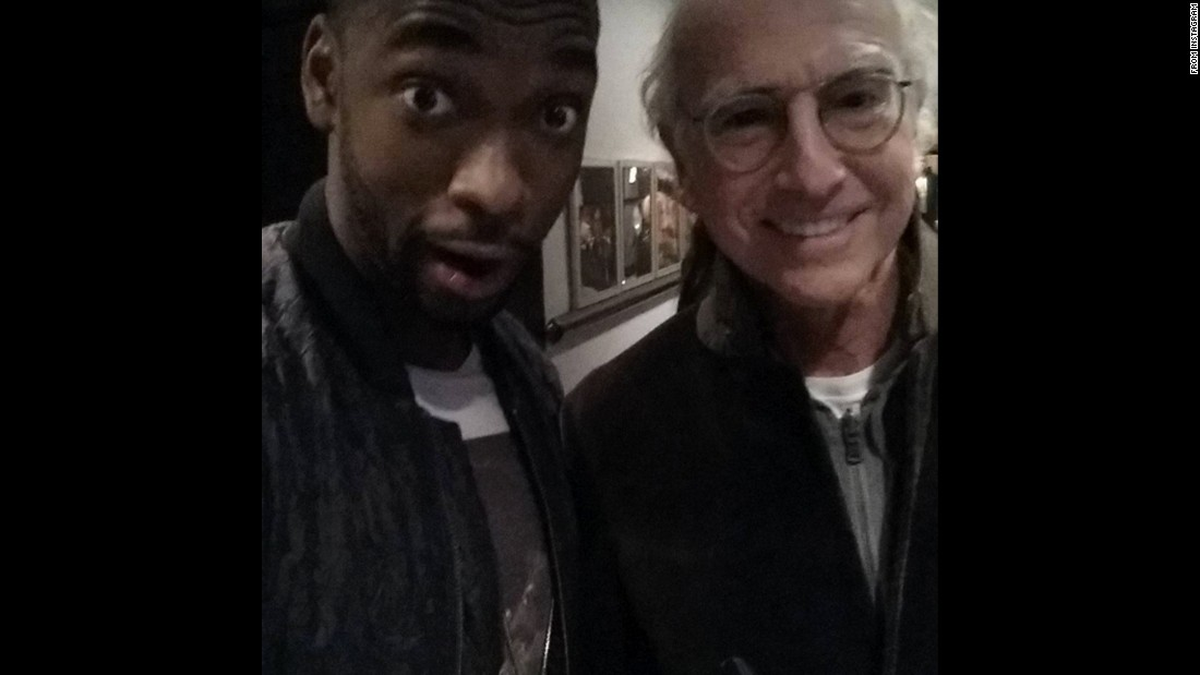 "Comedian Jay Pharoah, left, <a href=""https://www.instagram.com/p/91ES18Q9fN/"" target=""_blank"">posted a selfie</a> with ""the legend Larry David"" on Sunday, November 8. David made another appearance on ""Saturday Night Live"" as U.S. Sen. Bernie Sanders."