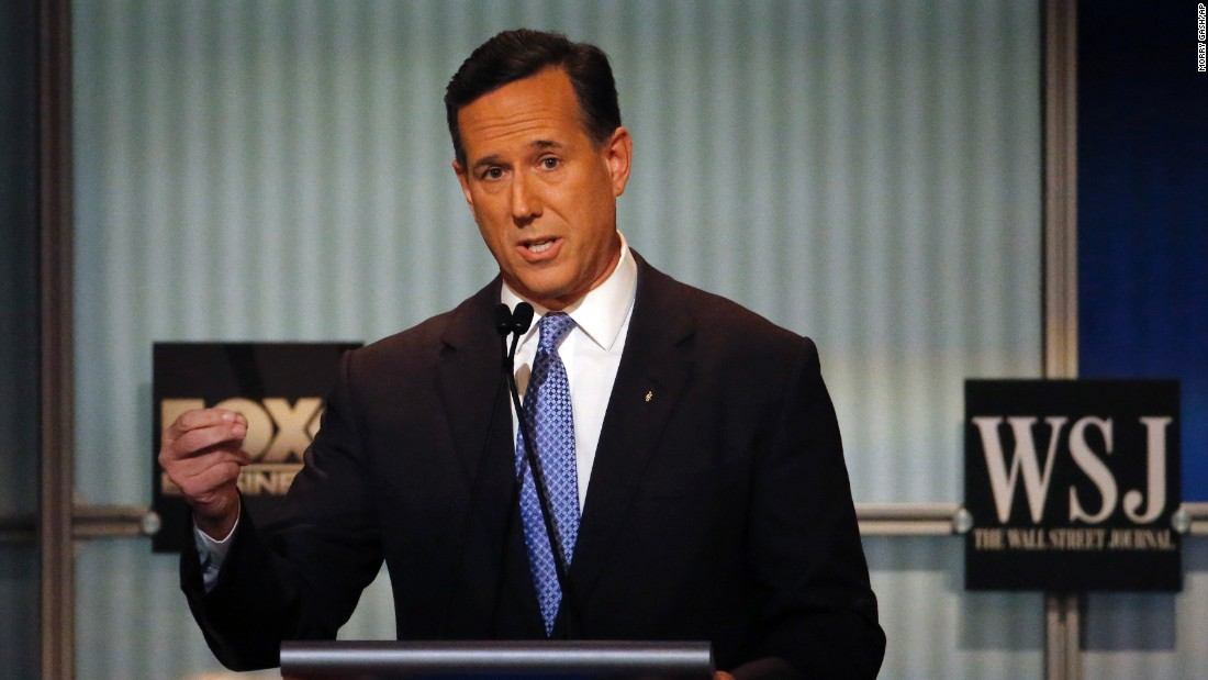 """The middle of America is hollowing out,"" Santorum said. ""All you have to do is listen to the last Democratic debate and you would think there was a Republican president in office the way they complained about how bad things are in America and how the middle -- the middle of America is hollowing out."""
