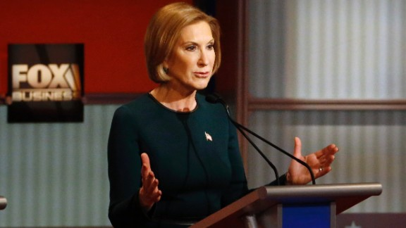 """""""This isn't about just replacing a Democrat with a Republican now,"""" Fiorina said. """"It's about actually challenging the status quo of big government."""""""