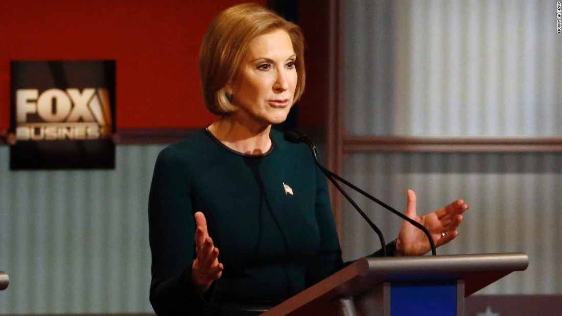 """This isn't about just replacing a Democrat with a Republican now,"" Fiorina said. ""It's about actually challenging the status quo of big government."""