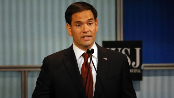 """""""What makes America special is that we have millions and millions of people that are not rich, that through hard work and perseverance are able to be successful,"""" Rubio said. """"The problem is that today people are not successful working as hard as ever because the economy is not providing jobs that pay enough."""""""