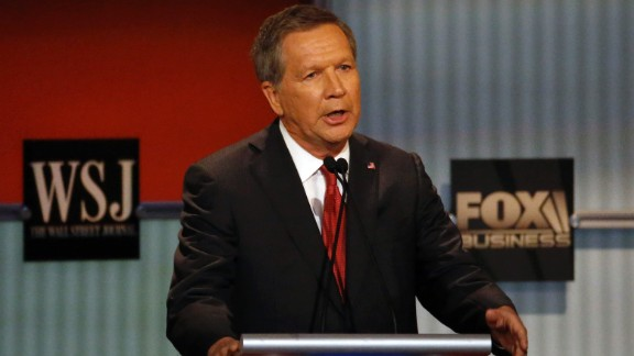 """""""I want everybody here to know, when I was Budget Committee chairman in Washington, I stepped on every toe in that town, and we got to a balanced budget and we had enormous job growth,"""" Kasich said. """"And as governor of Ohio, we went from 350,000 lost jobs to a gain of 347,000 jobs."""""""