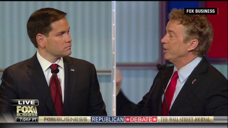 Rand Paul, Marco Rubio in heated budget debate