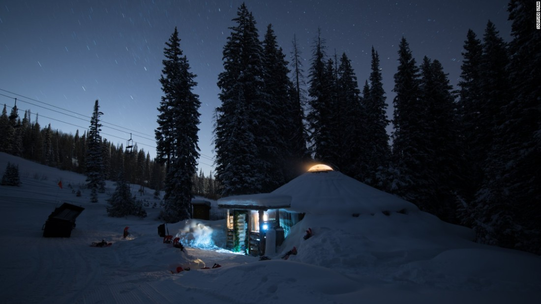 "At a Mongolian yurt at Solitude in Utah, chefs prepare food for a maximum of 24 people in a moonlit forest, <a href=""https://skisolitude.com/village-dining/the-yurt"" target=""_blank"">costing $125 per diner.</a>"