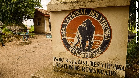 An entrance to Virunga National Park is seen near Rutshuru in this June 2014 photograph.