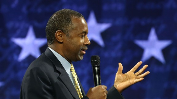 US Republican President candidate Dr. Ben Carson speaks at Liberty University, on November 11, 2015 in Lynchburg, Virginia.