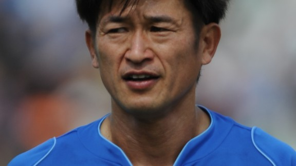 The 48-year-old has three goals in 16 appearances for the second division Japanese side this season, however he is currently sidelined with a thigh injury.