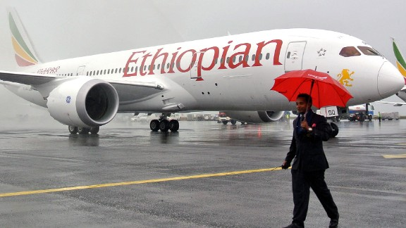 "A Boeing 787 Dreamliner is hosed down on arrival in Addis Ababa on August 17, 2012. Ethiopian Airlines received Africa's first Boeing 787 Dreamliner on Friday, making Ethiopia the only country aside from Japan to operate the innovative aircraft. ""As a continent this shows how much we are making progress as Africans... competing on the global stage and changing our image,"" Ethiopian Airline CEO Tewolde Gebremariam told reporters  AFP PHOTO/JENNY VAUGHAN.        (Photo credit should read JENNY VAUGHAN/AFP/GettyImages)"