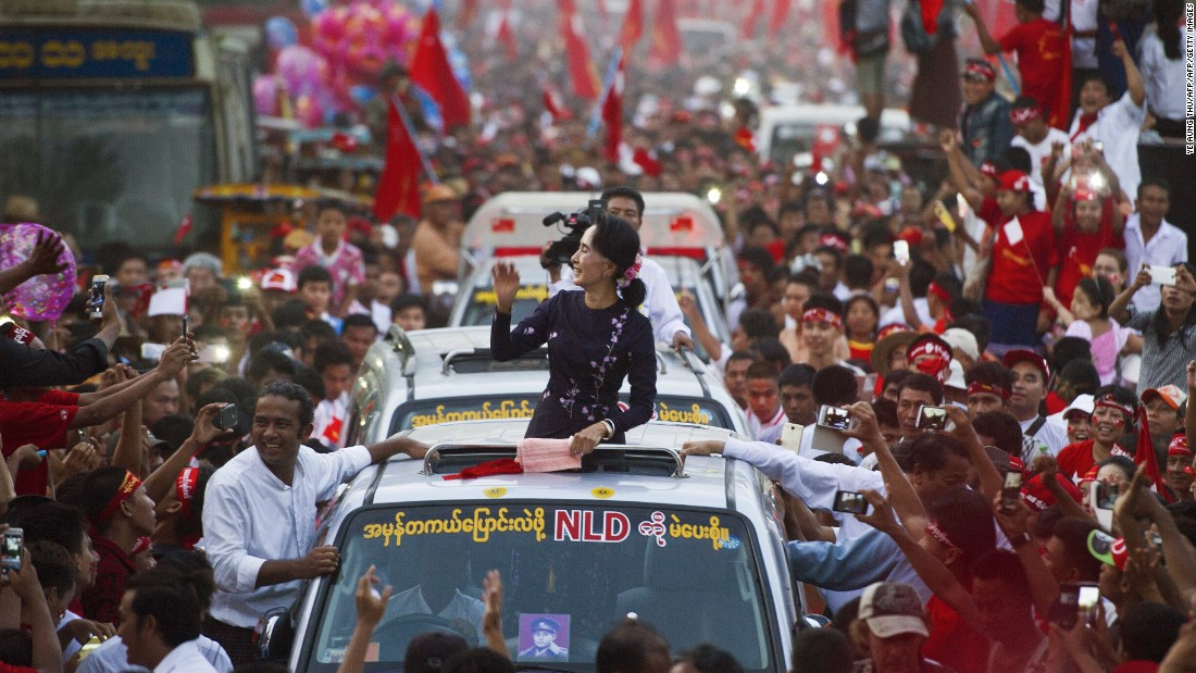 The opposition party of Aung San Suu Kyi won a historic majority in Myanmar's parliament in 2015, marking the nation's rejection of decades of military rule. Suu Kyi, a Nobel Peace Prize winner, could not become president under the military-drafted constitution. But the post of State Counselor was created especially for her and was widely expected to allow her to rule by proxy.