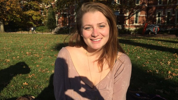 """Kari Schram, a psychology major at MU, said she is troubled by social media posts from people criticizing and mocking protests. """"I'm seeing people I never thought would have this stance, and it makes me sad."""""""