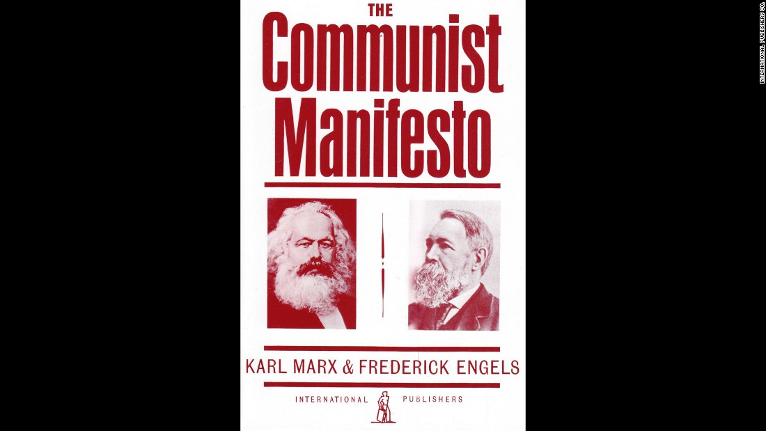 """The Communist Manifesto"" by Karl Marx and Friedrich Engels was a political pamphlet published in 1848."