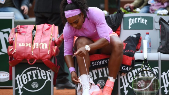 Serena Williams has a particular way she ties her athletic shoes before each tennis match. The Grand Slam winner could be on to something.