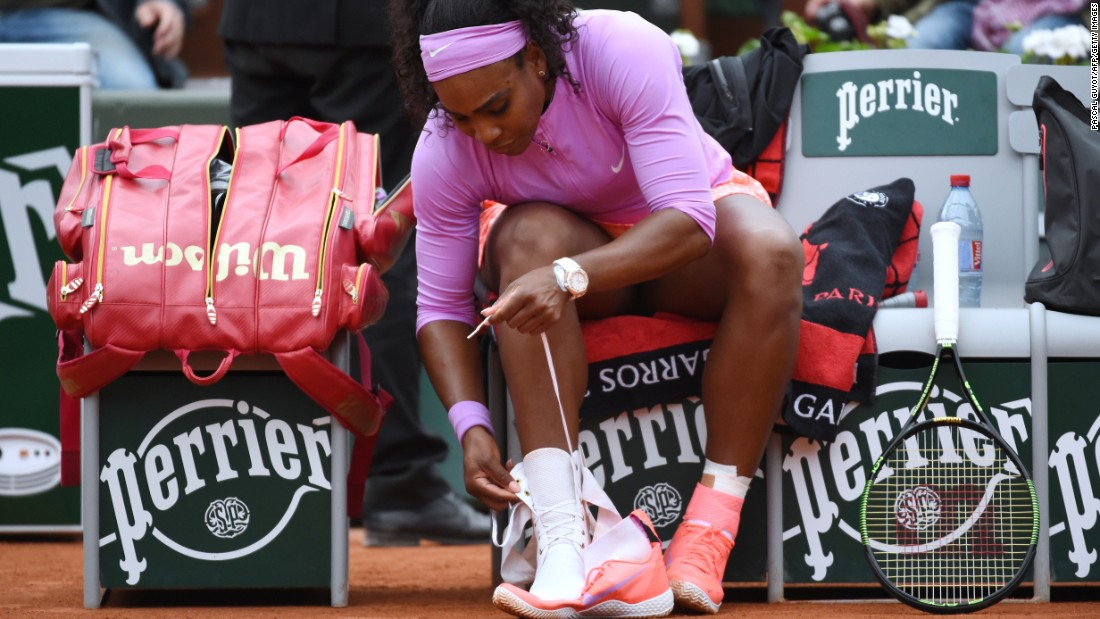 "Serena Williams has a particular way she <a href=""http://bleacherreport.com/articles/1118208-5-greatest-routines-and-superstitions-in-tennis/page/3"" target=""_blank"">ties her athletic shoes </a>before each tennis match. The Grand Slam winner could be on to something."