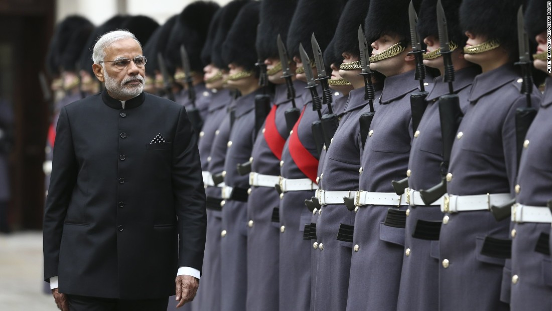 Modi will have lunch with the Queen at Buckingham Palace and give an address to the UK Parliament.