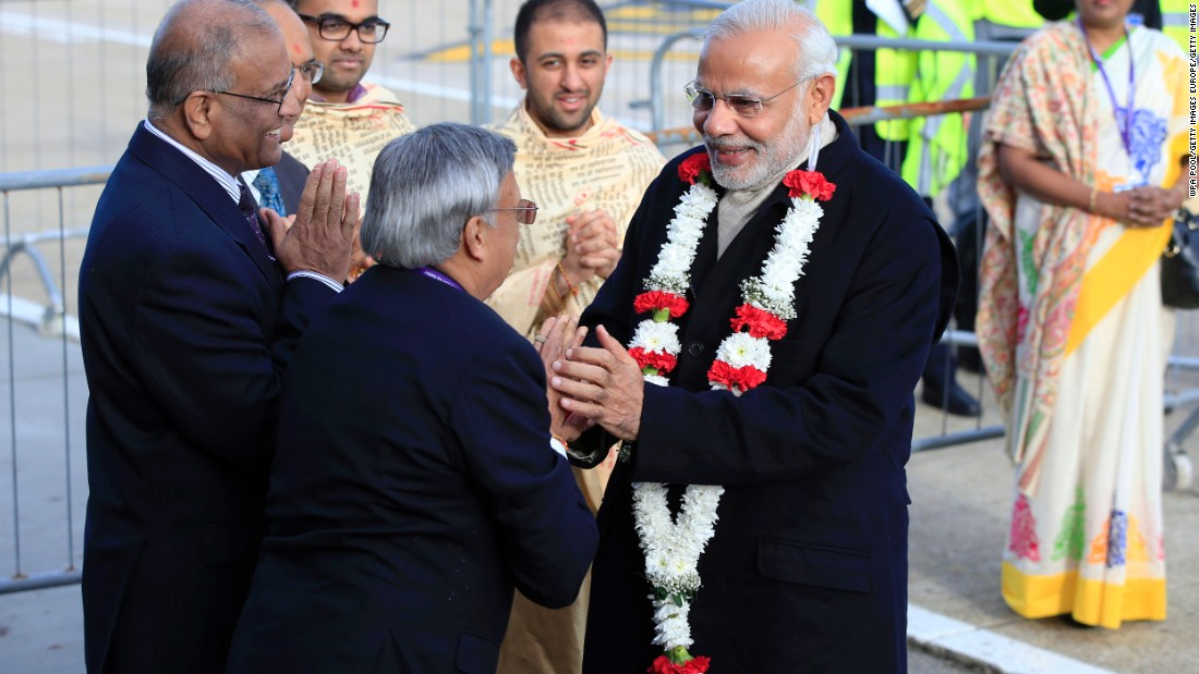 "60,000 people are expected to give the Indian PM a warm reception at the ""UK Welcomes Modi"" event at Wembley stadium."